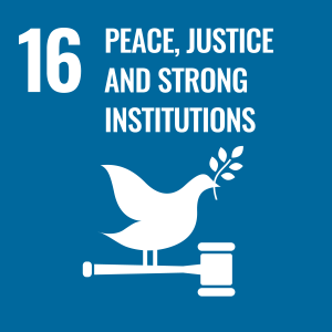 16: Peace, Justice, and strong institutions